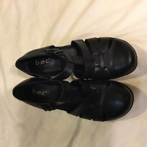 Great b.o.c. Black Sandals, Leather Uppers 7.5